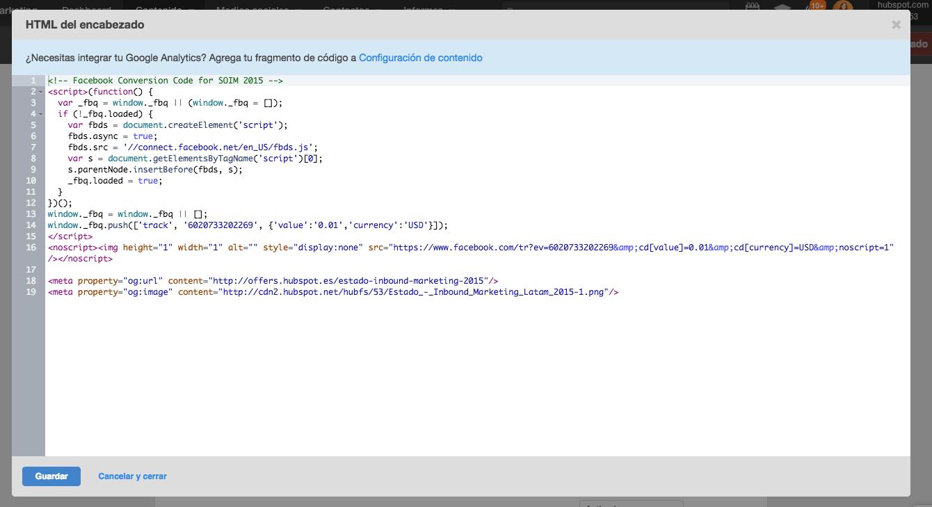 Codigo html encabezado