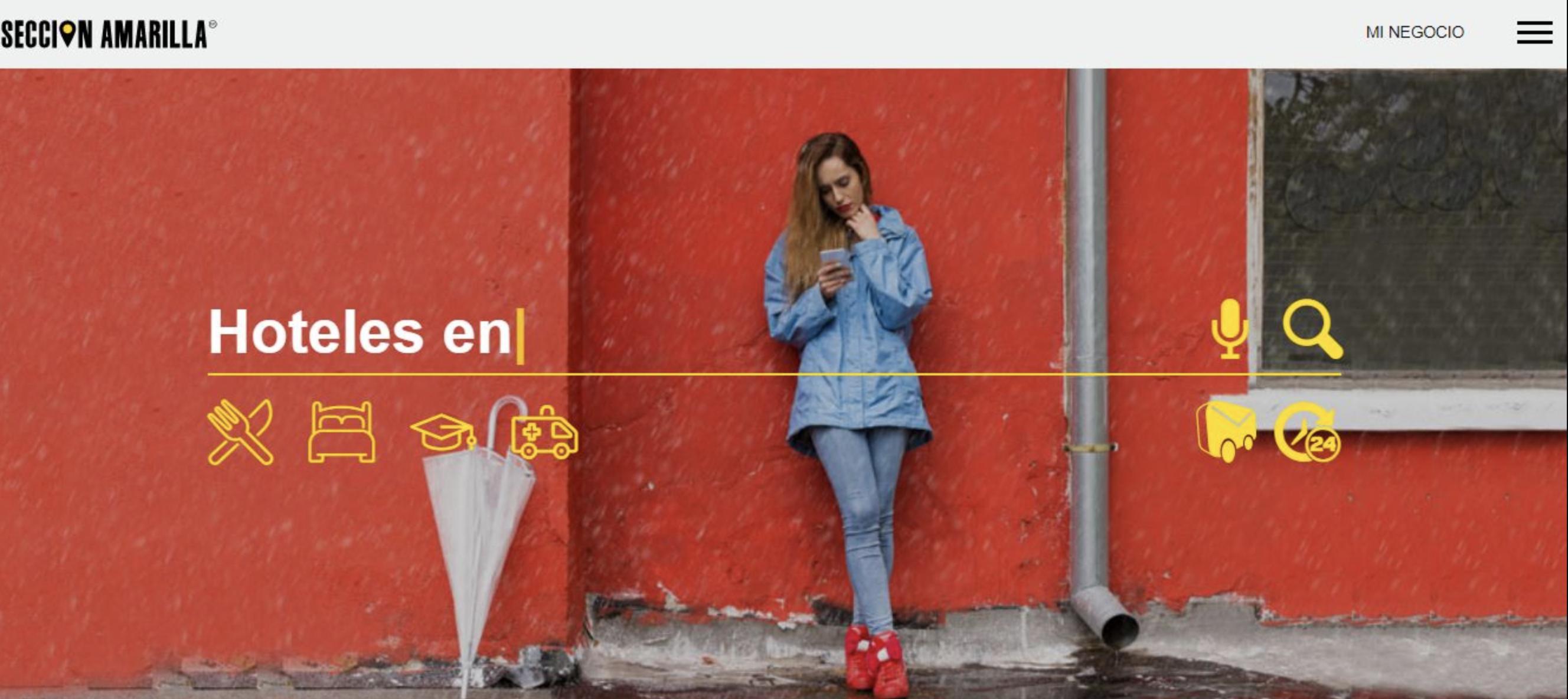 Ejemplos de colores para páginas web: seccion amarilla