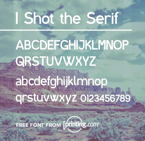 Serif tipografia para logo