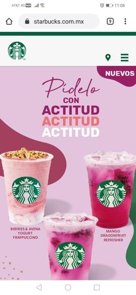 Sitio móvil de Starbucks