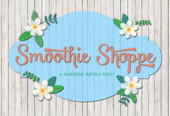 Smoothie Shoppe tipografías para logos