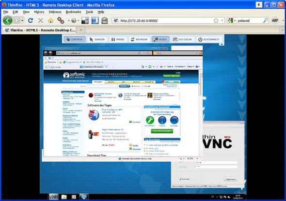 Software de acceso remoto- ThinVnc