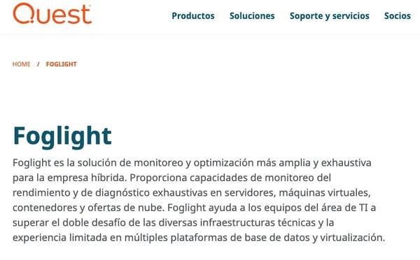 Software de auditoría de base de datos_ Foglight