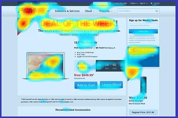 Software de mapa de calor de HeatMapCo