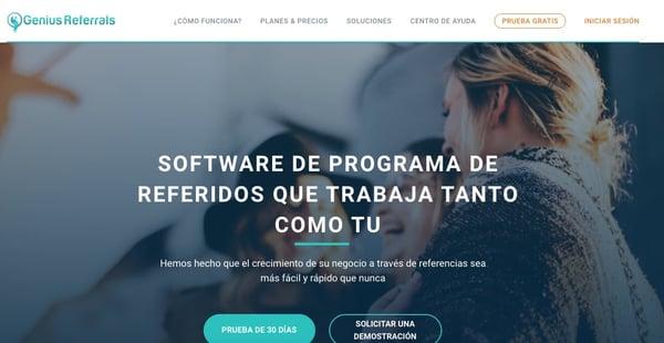 Software de programas de referido- Genius Referrals