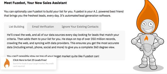 Software de ventas LeadFuze