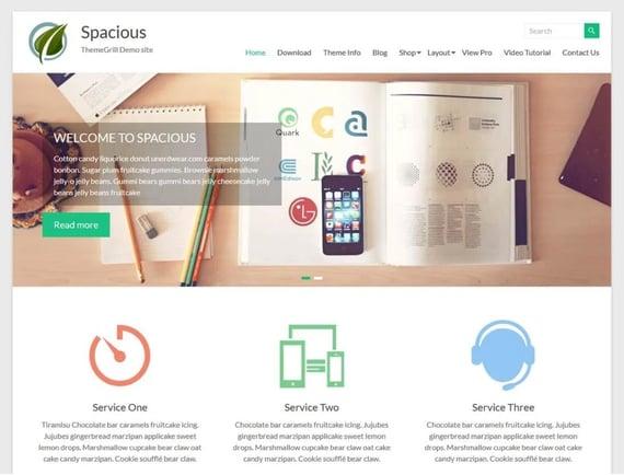 Spacious, tema de WordPress