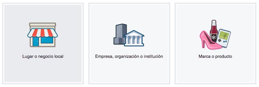 como crear una página de empresa en Facebook
