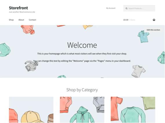 Storefront, plantilla de WordPress para e-commerce