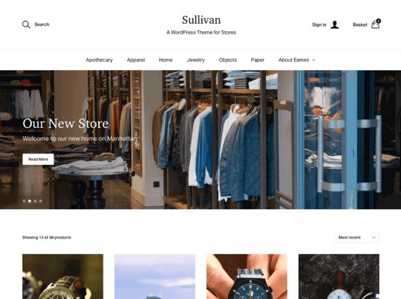 Sullivan, tema de Wordpress para e-commerce