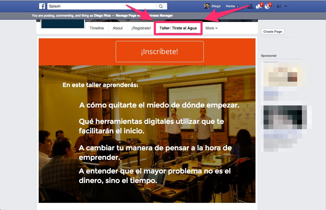 Tab Adicional Homepage