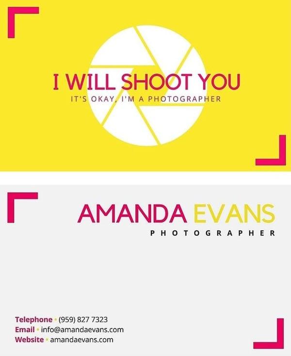 Tarjeta de presentación creativa_ Amanda Evans