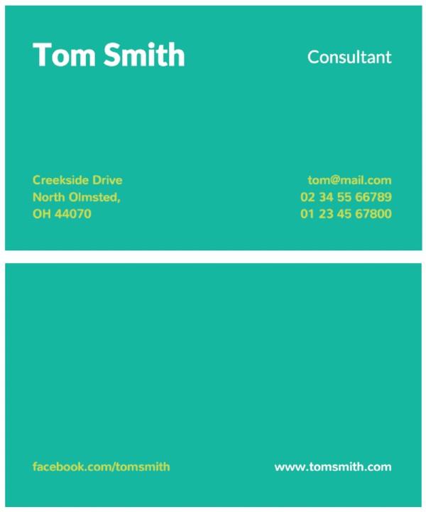 Tarjeta de presentación minimalista_ Tom Smith