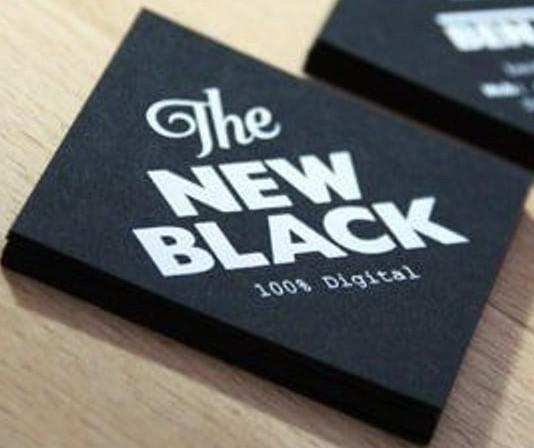 Tarjeta de presentación minimalistas_ the new black