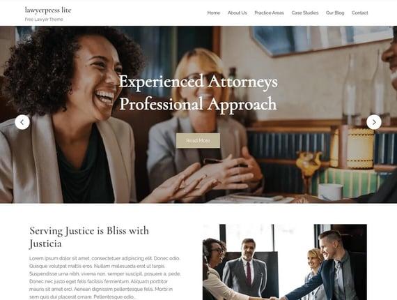 Tema de Wordpress Lawyerpress lite