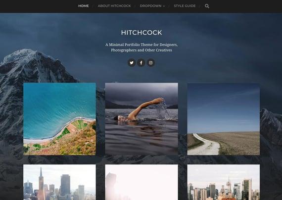Tema minimalista de WordPress Hitchcock