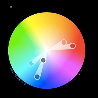 Teoría del color- esquema complementario dividido