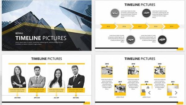 Timeline picture, plantilla de PowerPoint fácil de usar