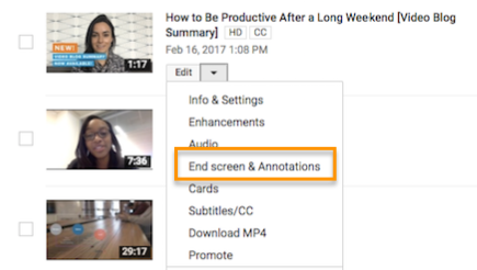 como agregar notas youtube