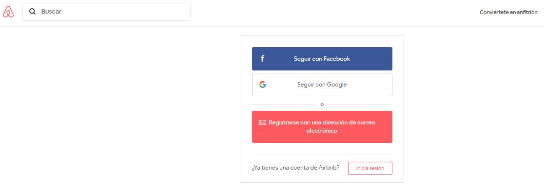 airbnb ejemplos formularios