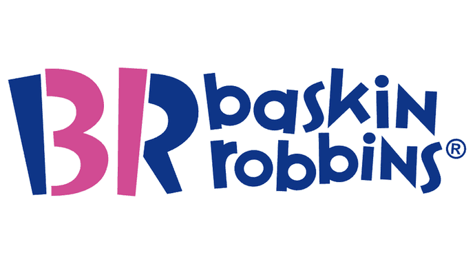 Ejemplos de publicidad subliminal: logotipo de Baskin-Robbins con el número31 oculto
