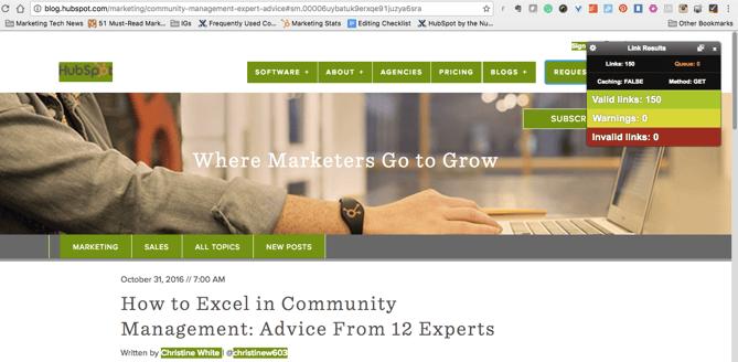 extension de Chrome Check My Links