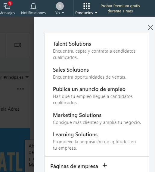 como agregar un perfil de empresa linkedin