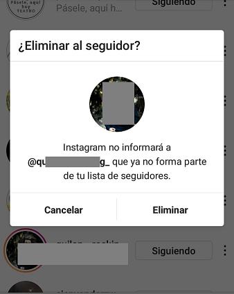 como eliminar seguidores en instagram