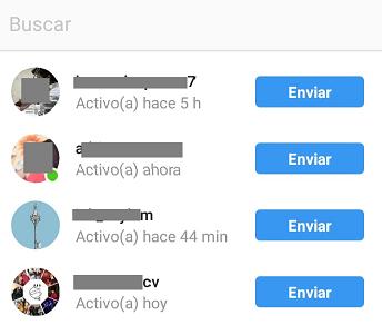 como enviar fotos instagram