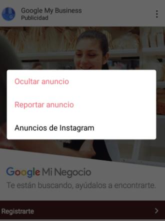 como quitar publicidad en instagram