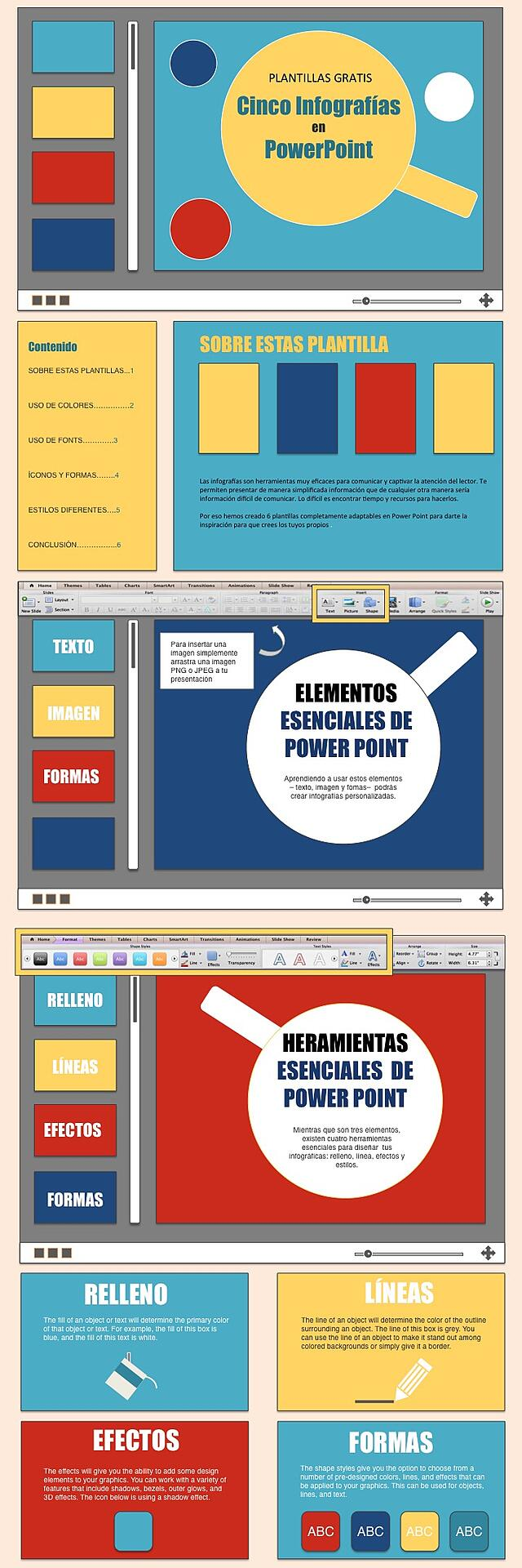 plantillas gratis para hacer infografías en Power Point