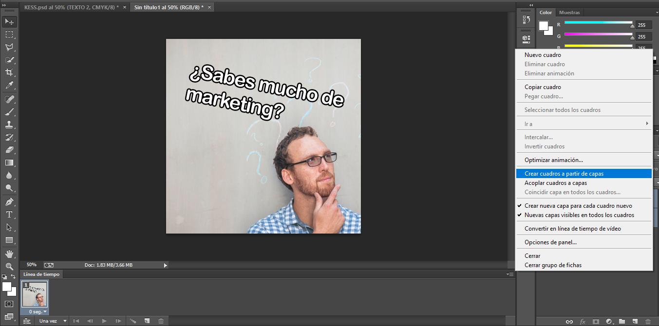 Cómo hacer cuadros a partir de capas en Photoshop