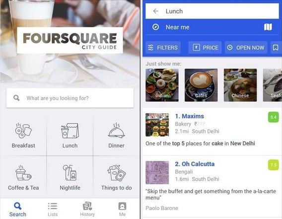 Mobile App Foursquare City Guide