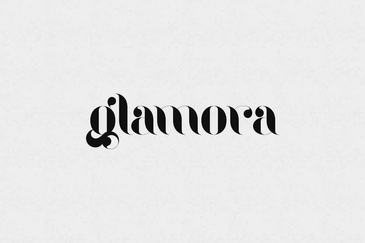 glamora tipografia logo