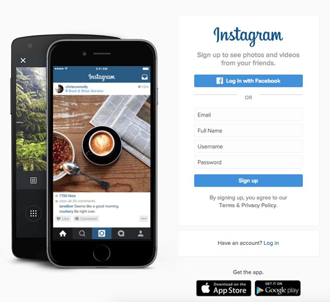 Call to action de Instagram