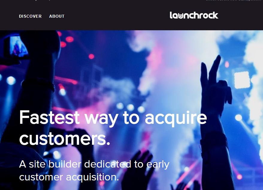 landing page launch rock