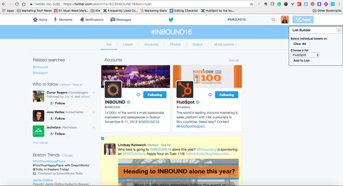 extensión de Chrome List Builder para Twitter