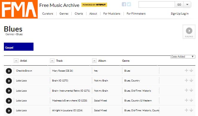 música gratuita para videos free music archive