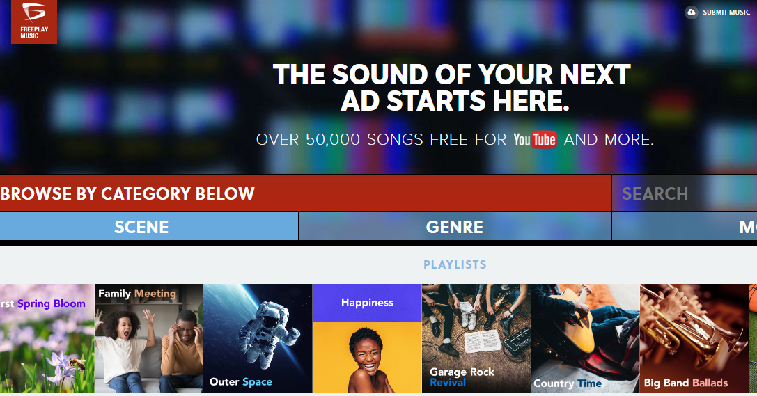 música gratuita para videos freeplay music