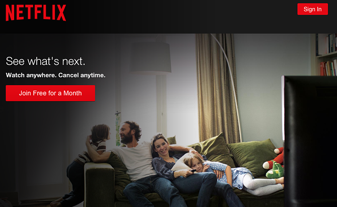 Call to action de Netflix