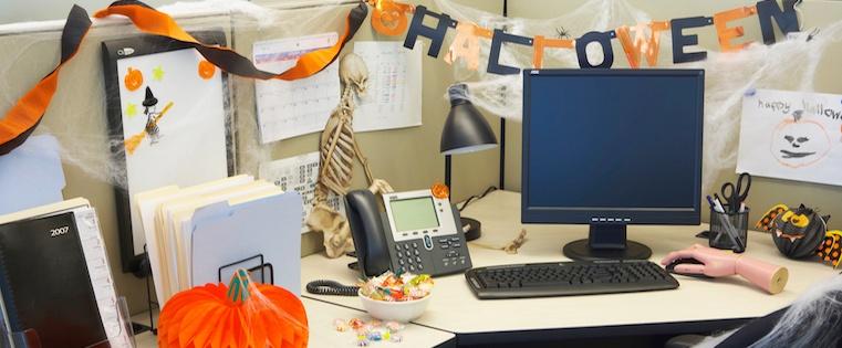 Decoracion Halloween oficina