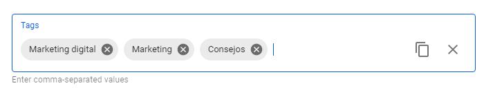palabras clave en youtube