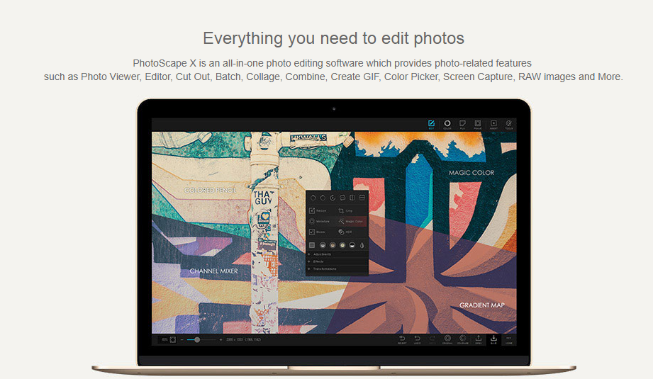 photo scape editor de fotos