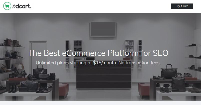 plataforma ecommerce 3d cart