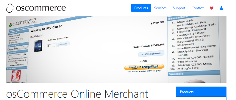 plataformas comercio electrónico oscommerce os