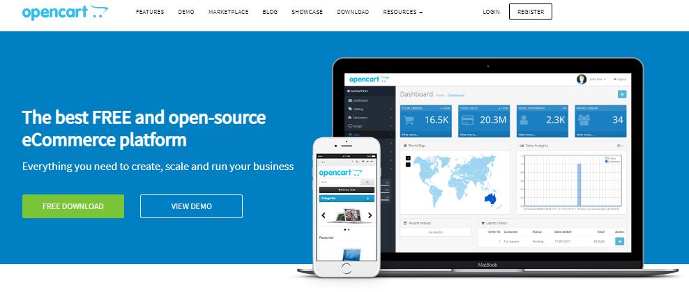 plataformas de comercio electrónico gratis open cart