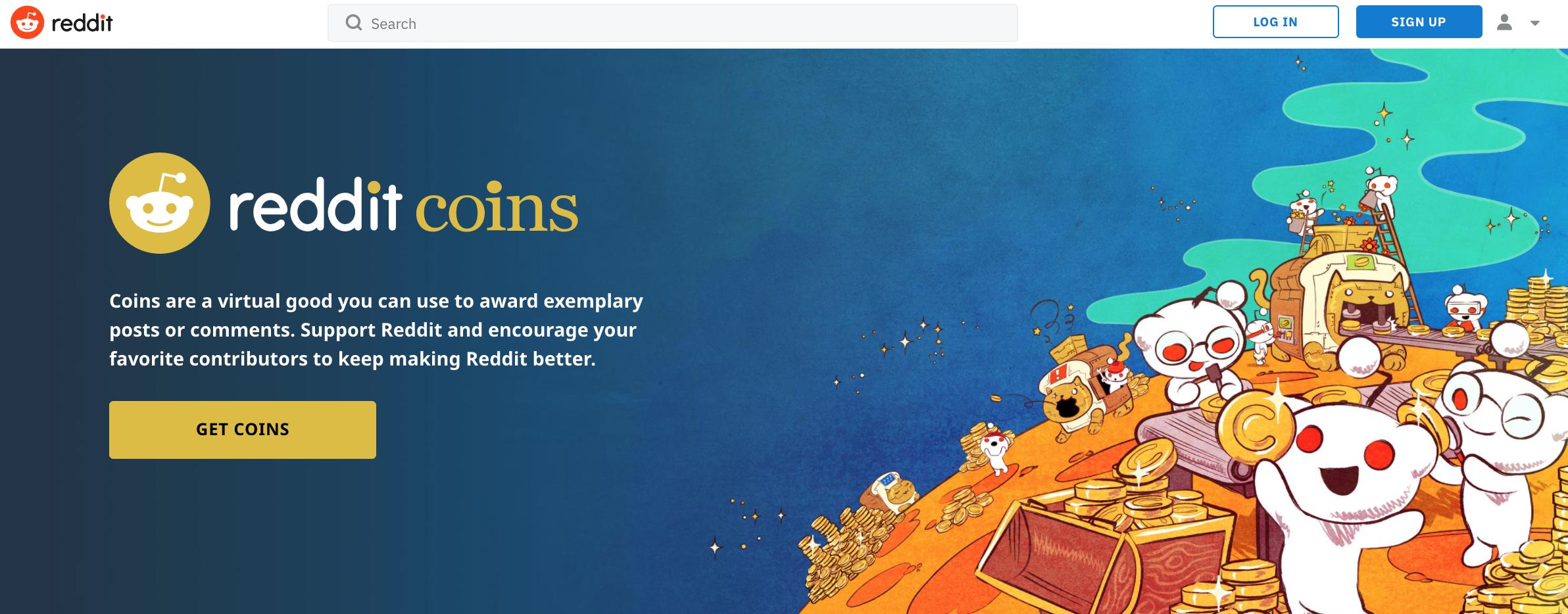 que es reddit coins gold