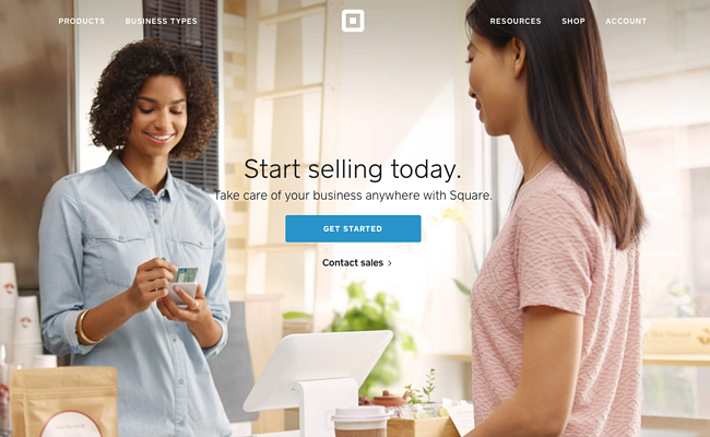 Call to action de Square