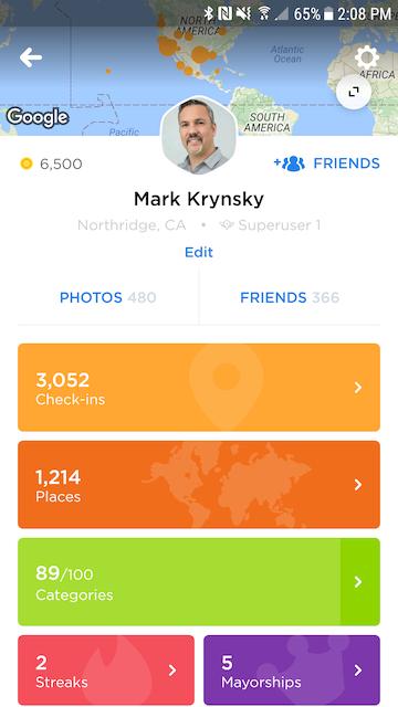Página de perfil de la app Swarm5.0