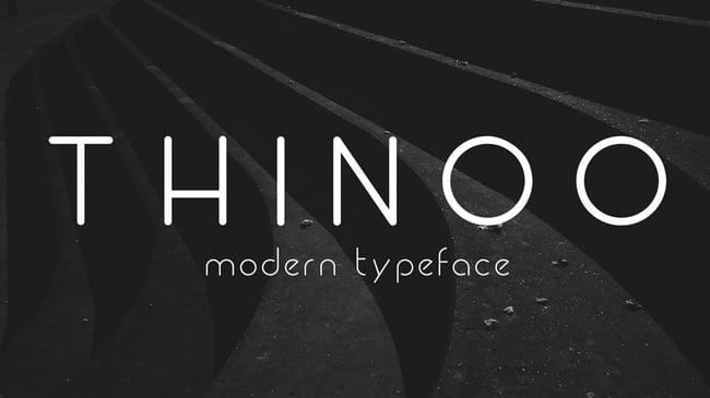 Fuentes para logotipos: thinoo tipografías  para logos